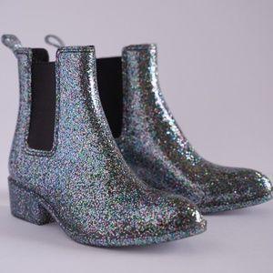 Jeremy Campbell Stormy Glitter Rain Boots